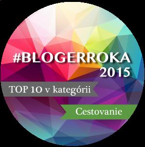 Seriál je jedným z 10 najlepších blogov na Slovensku za rok 2015 v kategórii cestovanie. Vďaka za každý váš hlas :)