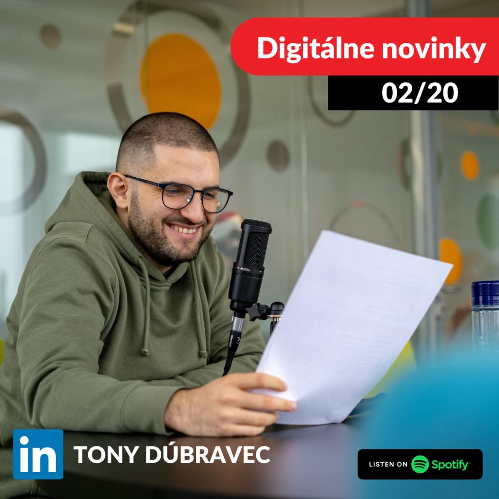 digitalne novinky, podcast, tony dubravec, slovensky podcast, bloger, marketing, market yourself